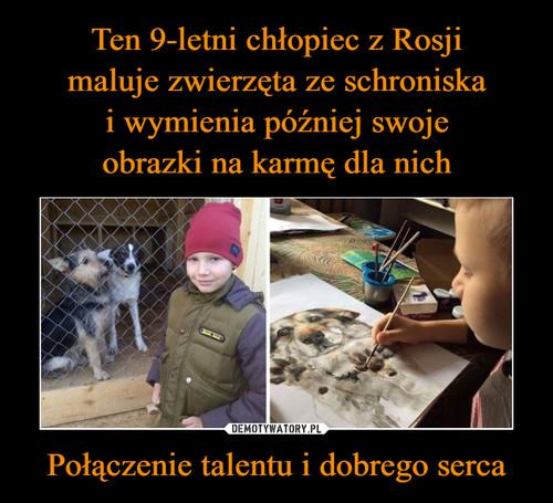 Ten 9-letni chłopiec z Rosji maluje zwierzęta ze schroniska i wymienia później swoje obrazki na karmę dla nich Połączenie talentu i dobrego serca