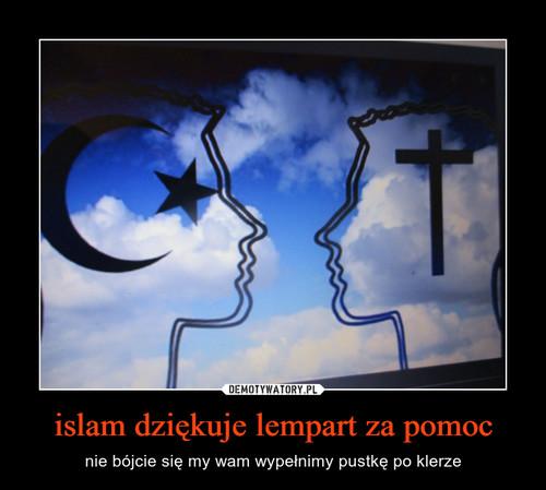 islam dziękuje lempart za pomoc