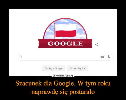 Szacunek dla Google. W tym roku naprawdę się postarało