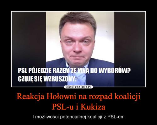 Reakcja Hołowni na rozpad koalicji PSL-u i Kukiza