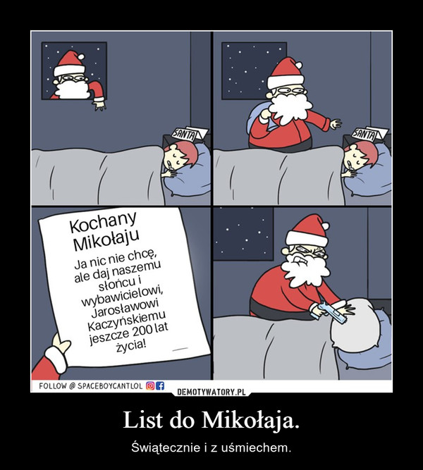 List do Mikołaja.
