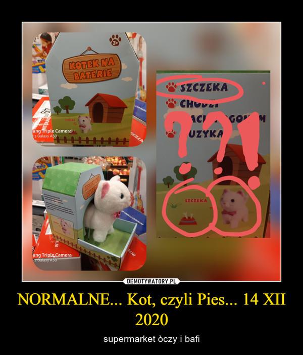 NORMALNE... Kot, czyli Pies... 14 XII 2020 – supermarket òczy i bafi