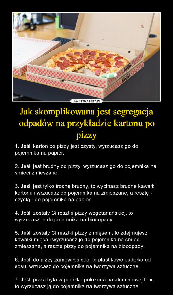 Jak skomplikowana jest segregacja odpadów na przykładzie kartonu po pizzy
