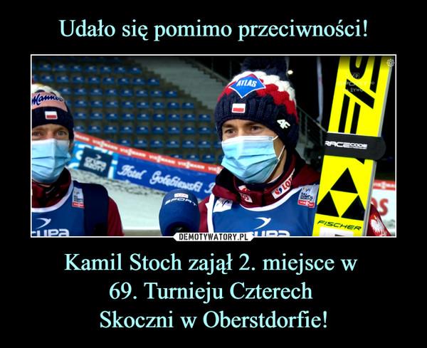 Kamil Stoch zajął 2. miejsce w 69. Turnieju Czterech Skoczni w Oberstdorfie! –
