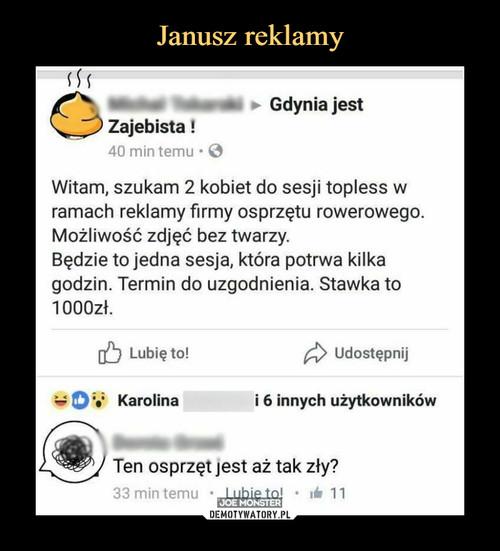 Janusz reklamy