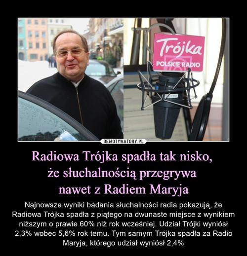 Radiowa Trójka spadła tak nisko,  że słuchalnością przegrywa  nawet z Radiem Maryja