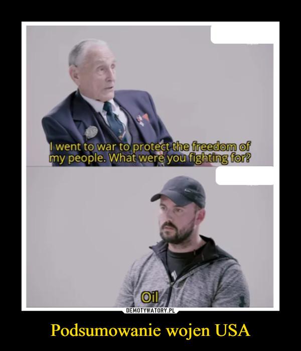 Podsumowanie wojen USA –