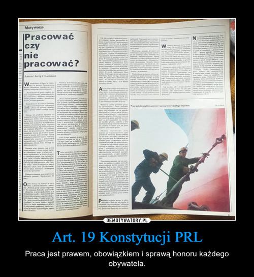 Art. 19 Konstytucji PRL