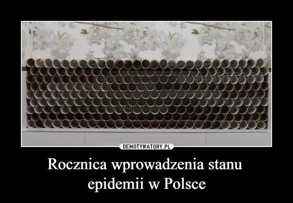 Rocznica wprowadzenia stanu epidemii w Polsce –