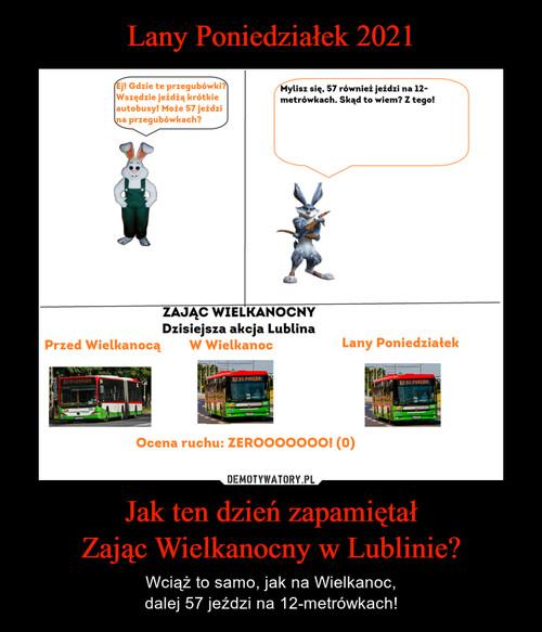 Lany Poniedziałek 2021 Jak ten dzień zapamiętał Zając Wielkanocny w Lublinie?