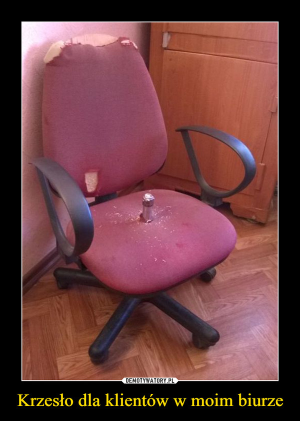 Krzesło dla klientów w moim biurze –
