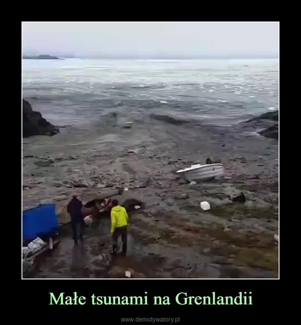Małe tsunami na Grenlandii –