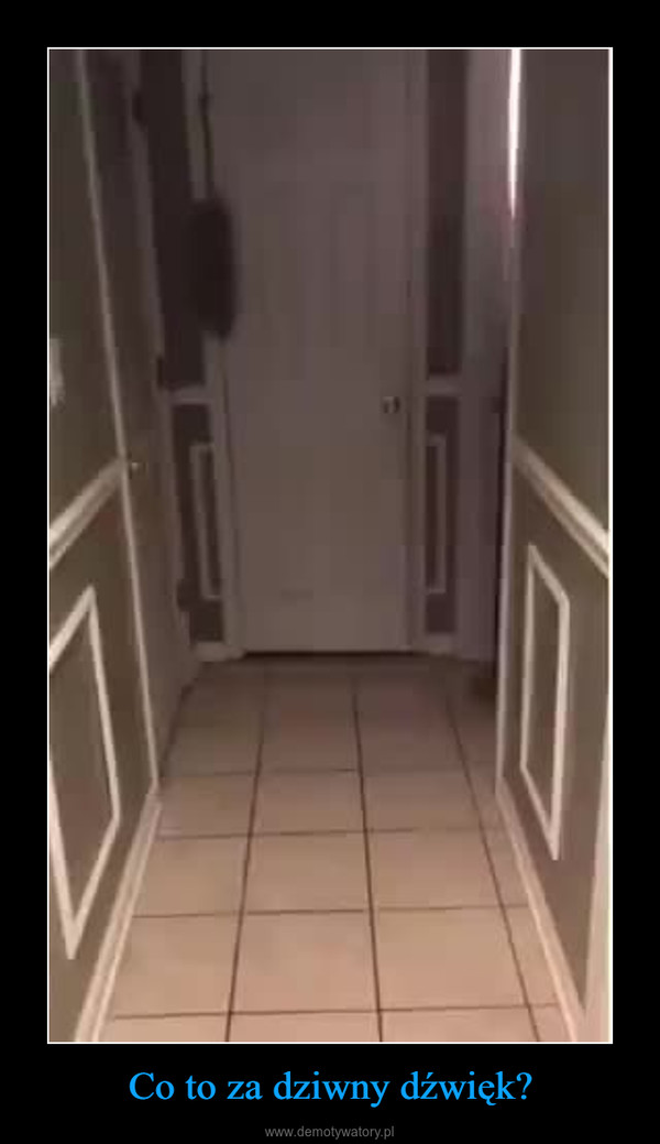 Co to za dziwny dźwięk? –