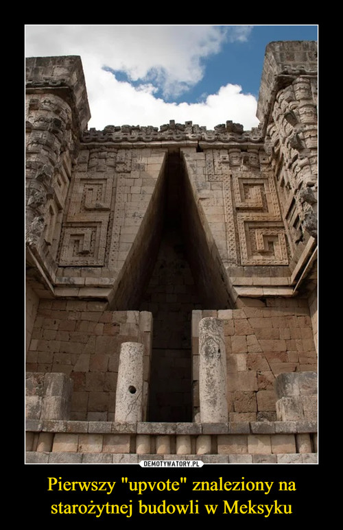 """Pierwszy """"upvote"""" znaleziony na starożytnej budowli w Meksyku"""