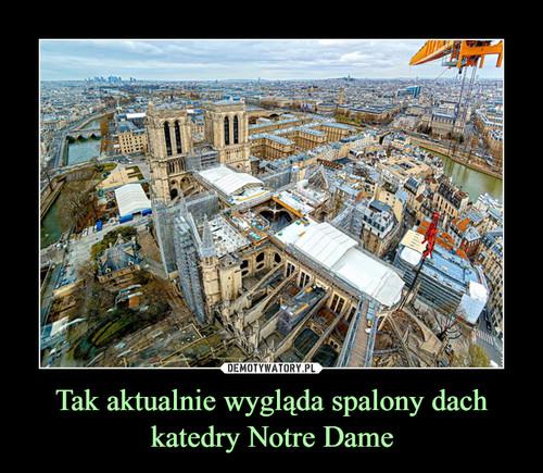 Tak aktualnie wygląda spalony dach katedry Notre Dame