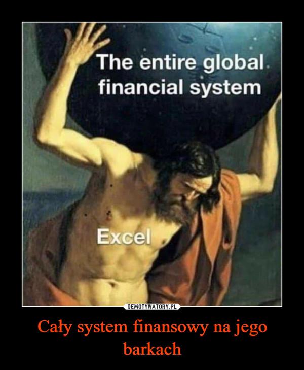 Cały system finansowy na jego barkach –