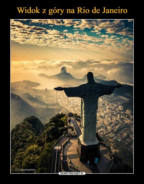 Widok z góry na Rio de Janeiro